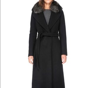 New Soia&kyo Size S wool coat w removable real fur